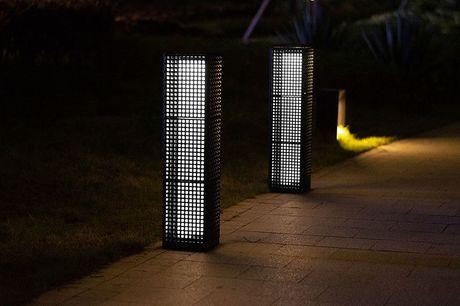Buitenlamp op zonne-energie XXL Werkend op zonne-energie  Geeft 6 tot 8 uur licht  Ingevlochten design