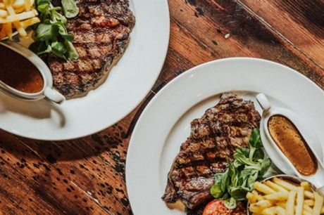Sirloin or Rib-Eye Steak Meal  for Two or Four at Saint Judes (60% Off)