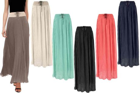 £8.99 for a pleated chiffon maxi skirt!