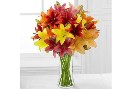 £16 instead of £36.99 for a Colourburst Lily Bouquet from Flowers Delivery 4 U - save 57%