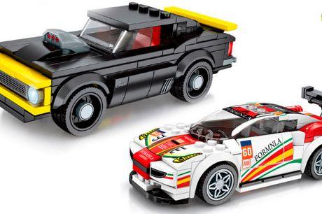 Sjov legetøjsbil i lego-design du selv skal samle - vælg mellem 13 pakker