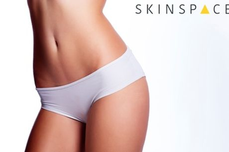 Three or Six Sessions of Brazilian or Hollywood Laser Hair Removal at SkinSpaceUK, Seven Locations