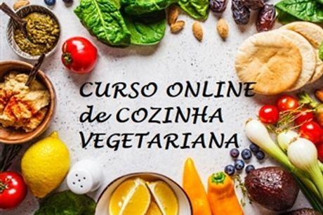 Curso Online de Cozinha Vegetariana  por 32.50€ com Certificado no iLabora. Torne-se num Chef de Cozinha Saudável.