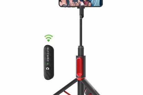 All in One Portable Selfie Stick with Retractable Tripod. Integrated Hidden Design.Stable Tripod Bracket.Removable and Rechargeable Mini-Remote.LightandStable.An 18-Month Warranty.