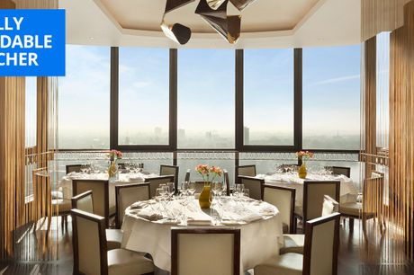 £29 -- 3-AA-Rosette meal & cocktail with London views