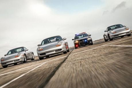 Police Pursuit Mazda MX5 or Porsche Boxster Driving Experience for One or Two from Drift Limits
