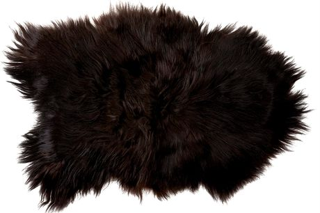 Icelandic 55 x 100 cm lammeskind. Lammeskind. Da der er tale om et 100% naturprodukt kan størrelse og hårlængde på skindet variere. Vask: skal renses. - Sort og Langhåret