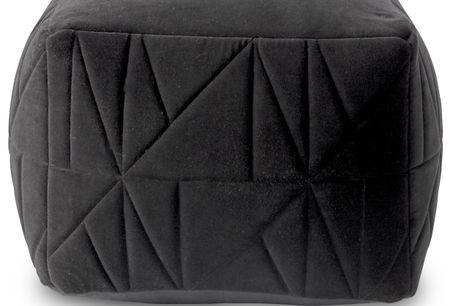 Peri Puf. Puf. - Caviar bomuldsvelour og quiltet mønster
