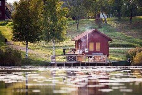 Sahlströmsgården. Ferie i Värmland Inkl. halvpension - 2 x overnatninger m. morgenmad - 2 x aftenens ret - 2 x kaffe og småkager - 1 x adgang til sauna (brænde) - Gratis internet og parkering)