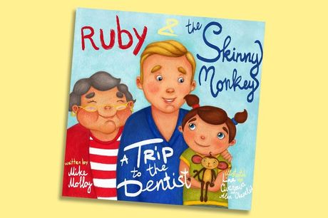 £9.99 (from Personalised Books Shop) for a 'Ruby and the Skinny Monkey - A Trip to the Dentist' personalised story book!