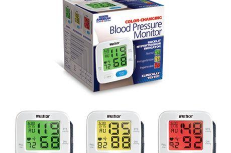 Farveskiftende blodtryksmåler til håndled