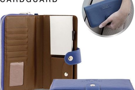 Card Guard uitschuifbare dames portemonnee - Blauw