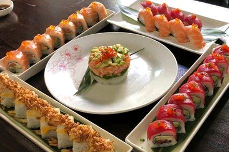40 u 80 piezas de sushi para dos o cuatro con entrante y bebida para llevar desde 24,95 € en Sushi Spa