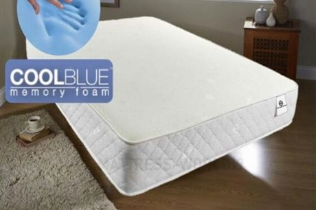 From £99 for a cool blue memory sprung foam mattress from Dreamtouch Mattresses LTD - save up to 42%