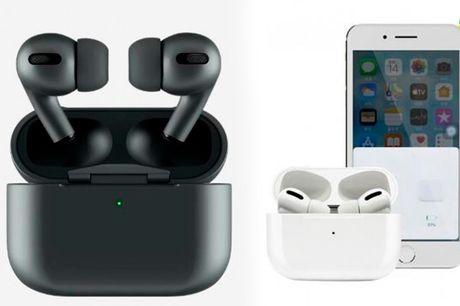 Stilfulde trådløse høretelefoner med forbedret lydkvalitet og opladningsboks