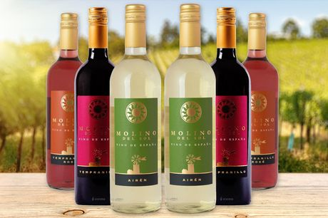 £33.99 for six bottles of wine from Chef Parcels  – choose from red, white, rose or a combination of all three
