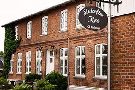 SLUKEFTER KRO i Sønderjylland - Ophold med 8-retters middag & vinmenu. Gyldig til 1. marts 2021.