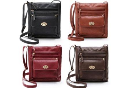 1 of 2 multifunctionele schoudertassen voor dames met gesp