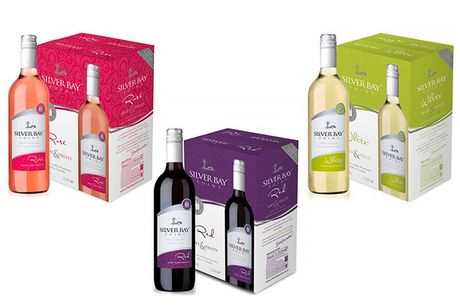 £32.99 (from Anielas) for a six-bottle case of Silver Bay Point wine
