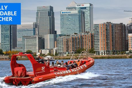 £29.50 -- London: high-speed Thames speedboat tour, 34% off