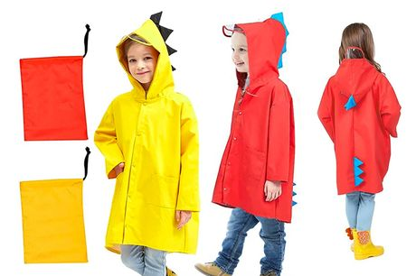 £9.99 instead of £29.99 (from Dynergy) for a dinosaur raincoat - choose from two colours and save 67%