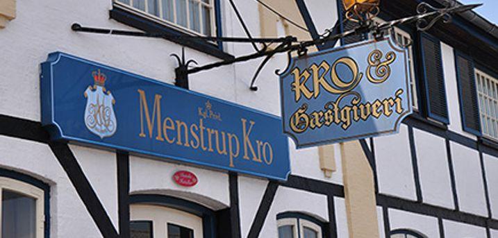 MENSTRUP KRO Næstved - 2 overnatninger m. velkomstdrink, middag og morgenbuffet. Gyldig til 17/12.
