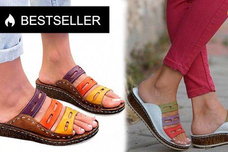 Lækre ortopædiske sandaler med bue-støtte