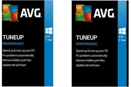 AVG TuneUp 2020 voor 1 of 2 jaar voor drie pc's
