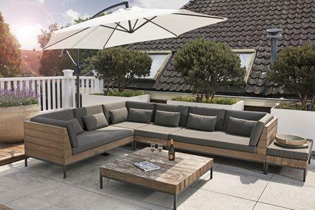 Hængeparasol - 3 farver. Få skygge på terrassen eller i haven