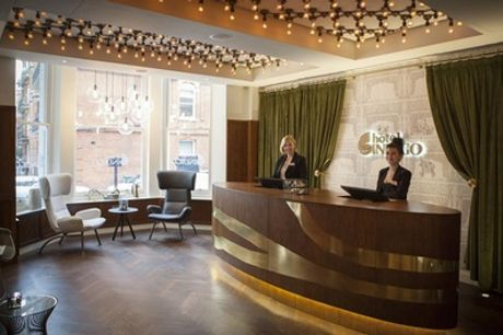 London: One-Night Stay for Two with Breakfast, Bubbly, Chocolates and Late Check-Out at Hotel Indigo London - Kensington