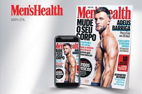 Conheça a maior revista de lifestyle masculina do mundo, uma revista para homens modernos e bem-sucedidos que pretendem estar sempre na sua melhor forma física, mental e emocional. Subscrição anual da Men´s Health (papel + digital) por apenas 29,90€