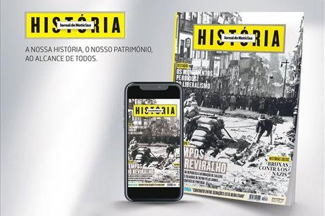 A história ao alcance de todos, conheça a nossa história e património uma revista imperdível. Subscrição anual da JN História (papel + digital) por apenas 17,90€