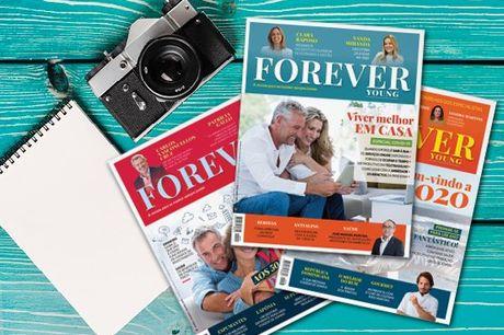 A revista para se manter sempre jovem. Grandes entrevistas, viagens, lifestyle, gadgets, saúde e muita cultura para um público-alvo 50+ . Subscrição anual da Revista Forever Young por apenas 9,90€