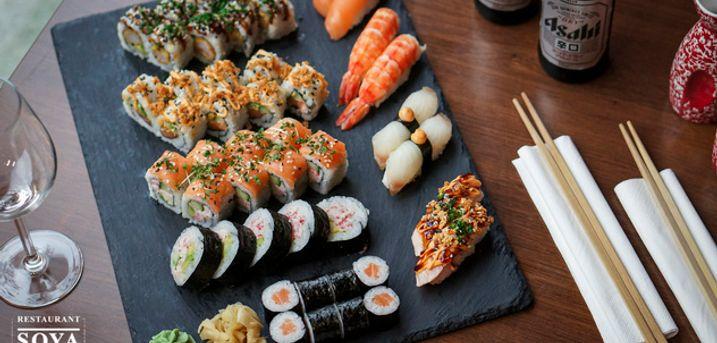 Take away sushi med 45 stk.. Så bliver din sommeraften ikke lækrere eller lettere