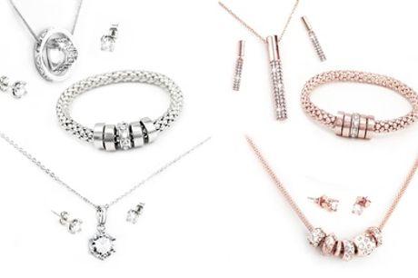 1 of 2 sets sieraden gemaakt met Swarovski®-kristallen