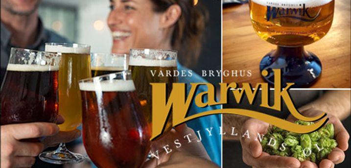 Gyldne dråber, godt håndværk - God gaveide! - Ølsmagning og rundvisning for 2 personer på Warwik Bryghus, værdi kr. 300,-