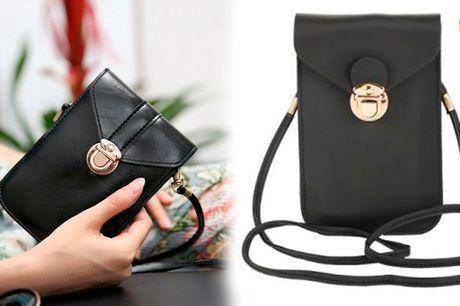 Klassisk mobiltelefon-taske i stilfuldt og fint design