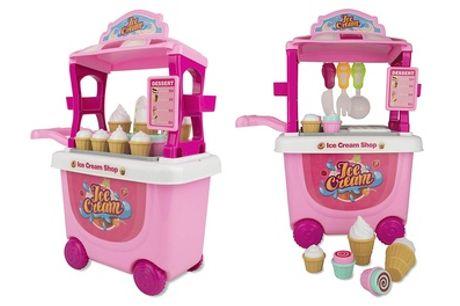 Soka 27-Piece Pretend Play Ice Cream Trolley Toy