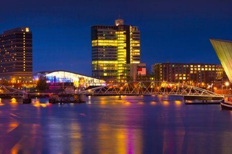 Hip Amsterdam-Noord: standaard tweepersoonskamer voor 2 incl. ontbijt bij Holiday Inn Express Amsterdam North Riverside
