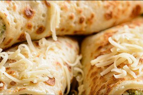 Lækker italiensk takeaway fra Al Buon Cibo - Glæd dig til en lille bid af Italien. Skøn takeaway menu for 2 personer med ovnbagt saltet pandekage, melonsalat samt konditorikage. Værdi kr. 240,-