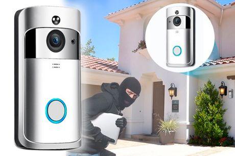 Smart dørklokke med indbygget videoovervågning med bevægelsessensor