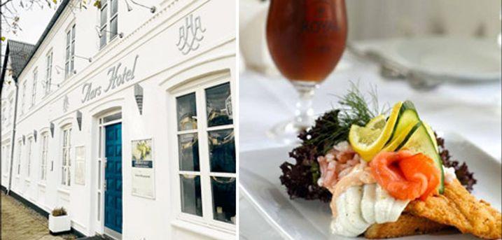 Her er sørget for det hele - skønt ophold for 2 - Dejligt sommerophold for 2 i Nordjylland - bo 2 nætter på Aars Hotel og få skøn morgenmad og 2 retters menuer begge dage. Værdi kr. 2960,-