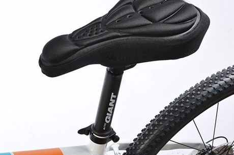 Bicycle Seat Cover. Seat cover to help keep off strains to your back when cycling. Flexible, elastic and soft. Air circulating, heat dissipating and aerodynamic thanks to 3D relief. Fits most saddles