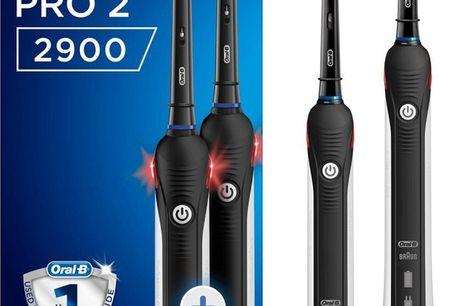 Oral-B Pro 2 2900 CrossAction - Elektrische Tandenborstel - 2 stuks- Zwart