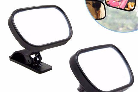 Binnenspiegel voor baby's Helpt je kinderen tijdens het rijden te bespieden.Deze handige spiegel voor in de auto helpt je de kleine donders te bespieden, zelfs tijdens het rijden. Op deze manier ben je er zeker van dat je altijd de controle behoudt. Dank