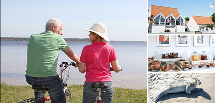 Billigt ophold for 2 i Skønne Skagen - Der er dejligt i Danmark og særligt i Skagen. I får 1 overnatning for 2 i Comfortværelse med bad og toilet, inkl. 1 flaske vin ved ankomst. Værdi kr. 1295,-