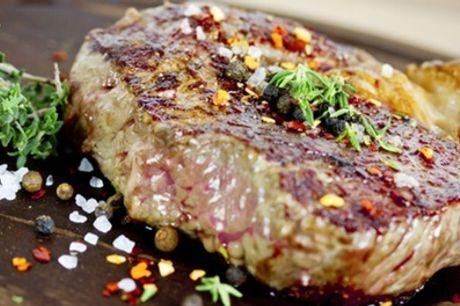 Côte de bœuf d'1kg avec frites maison, sauce, salade avec coupes de champagne en option pour 2 ou 4 à L'Anvers Du Decor