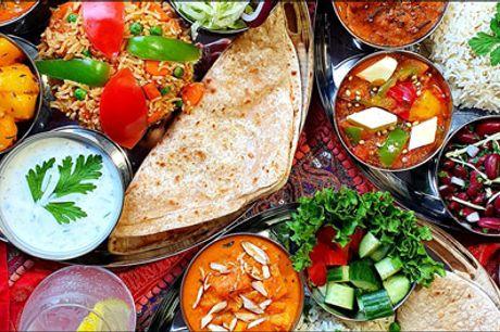 Lækker indisk frokostdeal - Halv pris. - Nyd en autentisk indisk frokost på Deep Restaurant på Amagerbrogade. Du får 1 x Thali-frokost for 1 person til en værdi af kr. 160,-