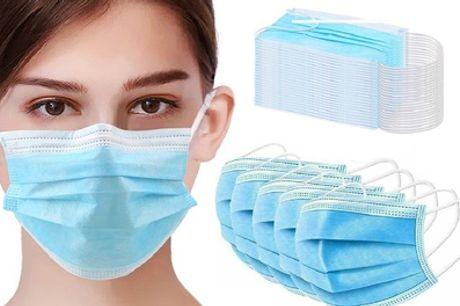 Hasta 100 máscaras faciales desechables de 3 capas