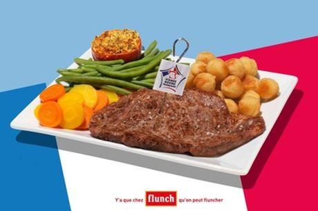 Chez Flunch, pour 1 € seulement, 10 € de réduction sur l'addition, midi et soir